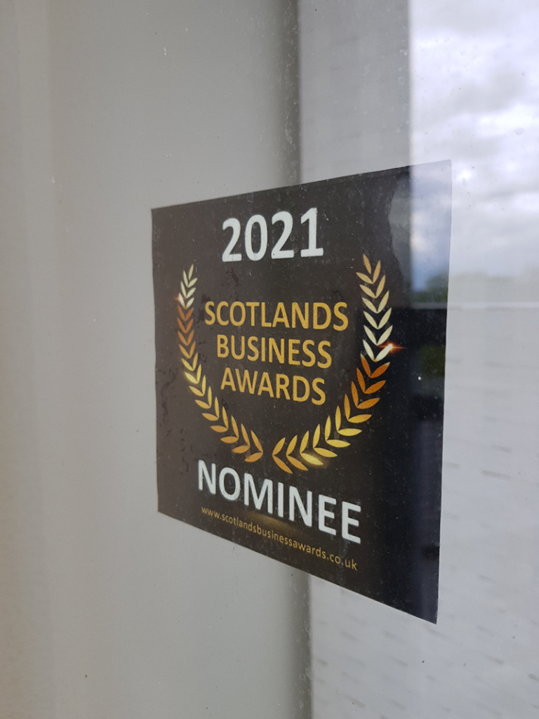 2021 window cling scotlands business awards